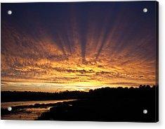 Acrylic Print featuring the digital art Sun Blast by David Davies