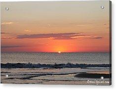 Sun Breaks Horizon Acrylic Print by Robert Banach