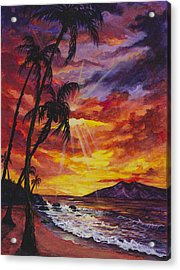 Acrylic Print featuring the painting Sun Burst by Darice Machel McGuire