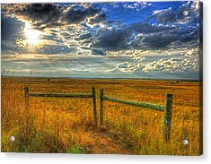Sun Burst Over The Plains Acrylic Print