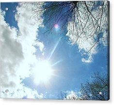 Acrylic Print featuring the photograph Sun Burst by Pamela Hyde Wilson