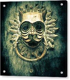 Sun Cat Door Knocker Acrylic Print