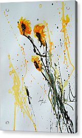 Sun-childs- Flower Painting Acrylic Print by Ismeta Gruenwald