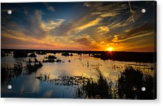 Sun  Clouds  Water And Silence Acrylic Print