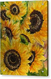 Acrylic Print featuring the painting Sun Danse by France Laliberte
