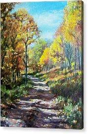 Sun Dappled Path Acrylic Print