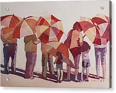 Sun Drenched Parasols  Acrylic Print by Jenny Armitage