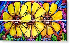 Sun Flowers And Friends 2008 Acrylic Print