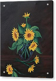 Acrylic Print featuring the painting Sun Flowers  by Sharon Duguay