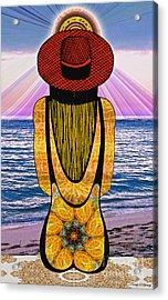 Sun Girl's Back Acrylic Print