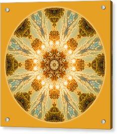 Sun Glow Mandala Acrylic Print