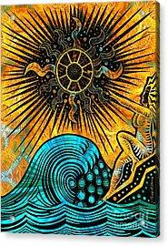 Big Sur Sun Goddess Acrylic Print by Joseph J Stevens