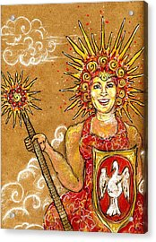 Sun Goddess Acrylic Print by Suzan  Sommers