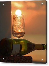 Acrylic Print featuring the photograph Sun In Glass by Leticia Latocki