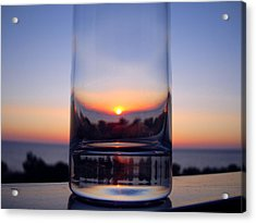 Sun In The Glass Acrylic Print