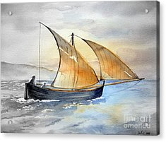 Acrylic Print featuring the painting Sun In The Sails  by Eleonora Perlic