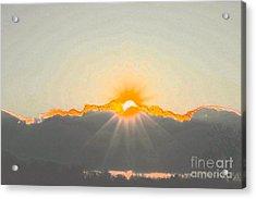 Sun Acrylic Print by Jay Nodianos