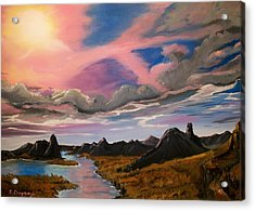Acrylic Print featuring the painting Sun Jet by Sharon Duguay