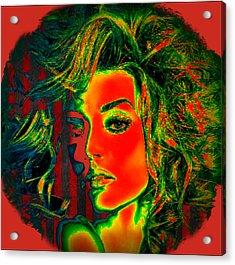 Acrylic Print featuring the digital art Sun Kissed by Digital Art Cafe
