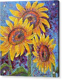 Acrylic Print featuring the painting Sun-kissed Beauties by Margaret Bobb