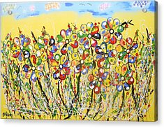 Sun-kissed Flower Garden Acrylic Print