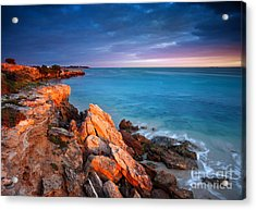 Acrylic Print featuring the photograph Sun Lights And The Rocks by Boon Mee