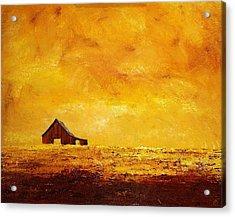 Sun Lit Barn Acrylic Print