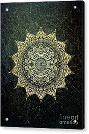 Sun Mandala - Background Variation Acrylic Print by Klara Acel