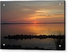 Sun On The Horizon Acrylic Print