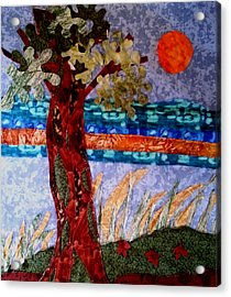 Sun Over Arbutus Work In Progress Acrylic Print