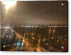 Sun Over City Lights Acrylic Print by Naomi Berhane