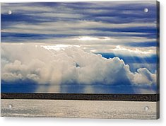 Sun Over The Clouds Acrylic Print