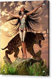 Sun Priestess Acrylic Print by Kaylee Mason