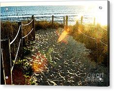 Sun Ray Beach Path Acrylic Print