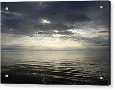 Sun Rays At Sunset Acrylic Print by Gynt