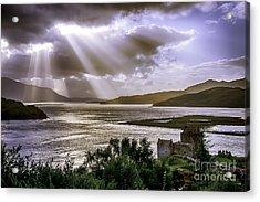 Sun Rays Over Eilean Donan Castle Acrylic Print
