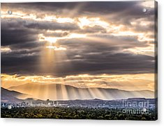 Sun Rays Over Reno Acrylic Print by Janis Knight