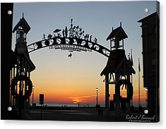 Sun Reflecting On Clouds Ocean City Boardwalk Arch Acrylic Print