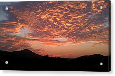 Sun Rise Colors Acrylic Print by Kiara Reynolds
