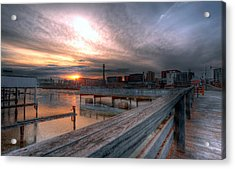 Sun Rise Over Erie Pa Acrylic Print by Brian Fisher