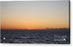 Sun Rising Above Clouds And Horizon Acrylic Print by John Telfer