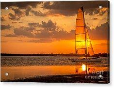 Sun Sail Acrylic Print by Marvin Spates