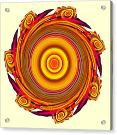 Sun Salutation Acrylic Print by Anastasiya Malakhova