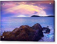 Sun Set Over St. Thomas Acrylic Print