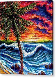 Sun Set Palm Acrylic Print
