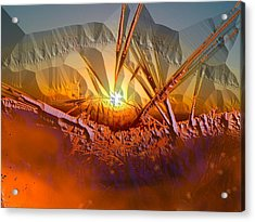 Sun Set Acrylic Print by Vagik Iskandar
