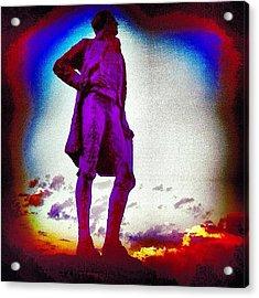 Sun Sets On Jefferson In Paris Acrylic Print
