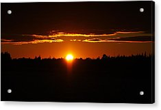 Sun Sets Over Huron Acrylic Print