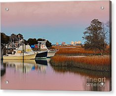 Sun Setting At Murrells Inlet Acrylic Print