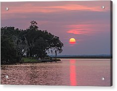 Sun Setting In The Bayou Acrylic Print by Brian Wright
